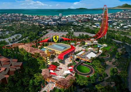 ferrari land theme park to open in barcelona