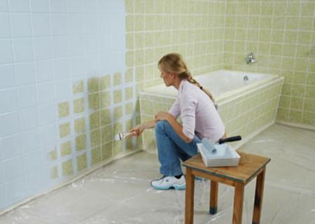 Prenova kopalnice z barvanjem plo ic for Pannelli per coprire piastrelle cucina